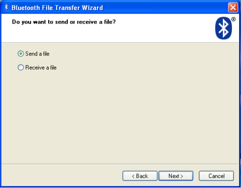 Hidden Bluetooth File Transfer Wizard in XP