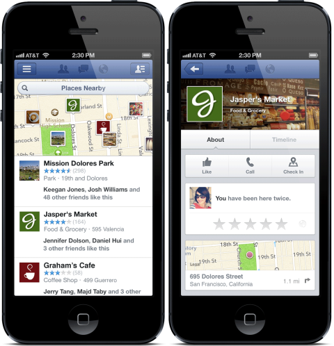 Facebook Nearby Feature
