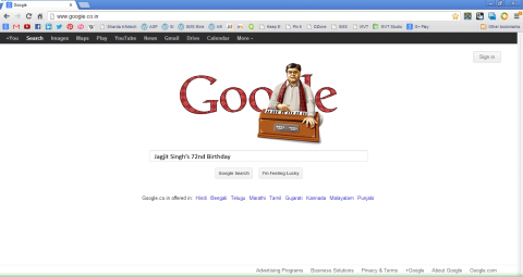 Jagjit Singh on Google